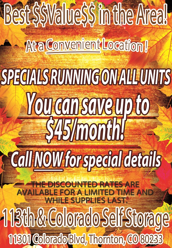 Fall Special - save up to $45/month!